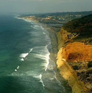 A coastline near Torrey Pines on October 30, 2003 in San Diego, California.