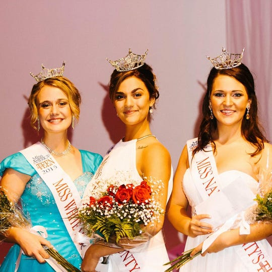 Miss Navajo County 2015 Abrianna Swanson, middle, said she was bullied by Miss Arizona pageant officials.