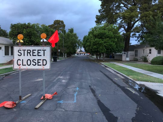 Udall Street closed in Mesa.
