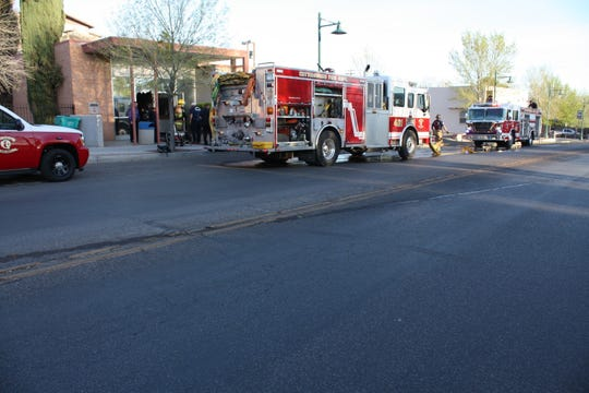 The Fire Department responding to the Cottonwood City Hall fire on April 1, 2013