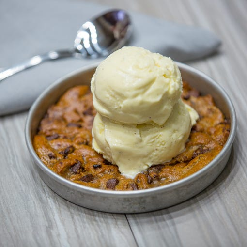 The chocolate chunk pizookie from BJ's Restaurant and Brewhouse.