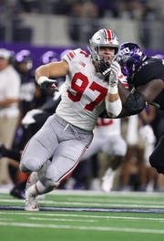 Ohio State Buckeyes defensive end Nick Bosa (97) could be the No. 1 pick in the 2019 NFL draft. Could he go to the Arizona Cardinals with that pick?