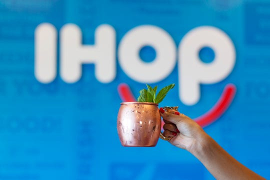 Beer, wine and cocktails like this mule are now offered at IHOP Camelback Colonnade on a new Rise and Shine brunch-inspired bar menu.