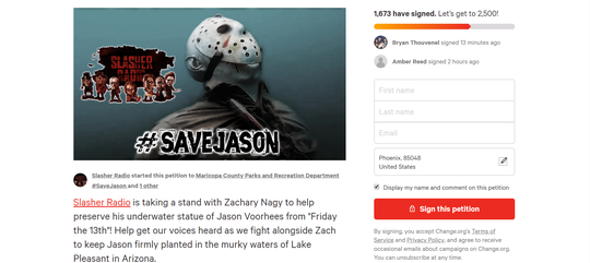 Petition to #SaveJason