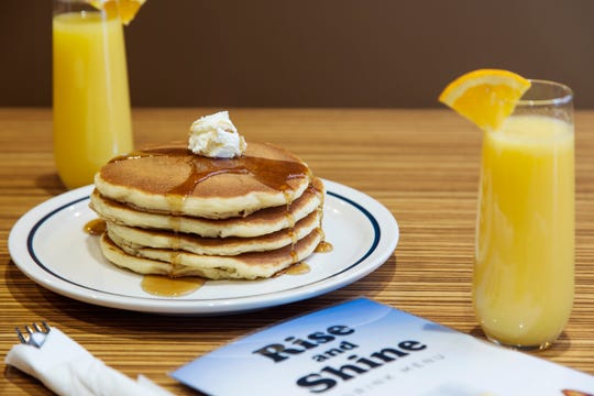 A new Rise and Shine brunch-inspired bar menu can now accompany your stack of buttermilk pancakes from IHOP, but only at Camelback Colonnade location.