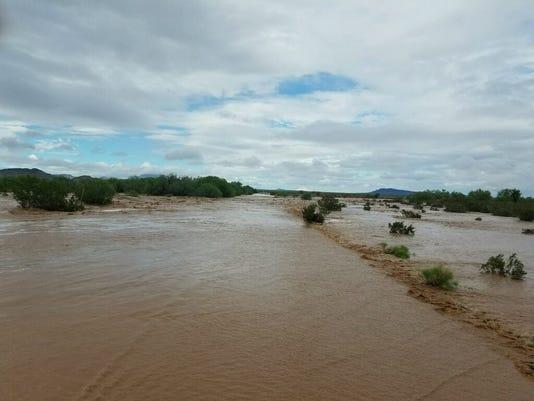 Flooding near Kohatk Village