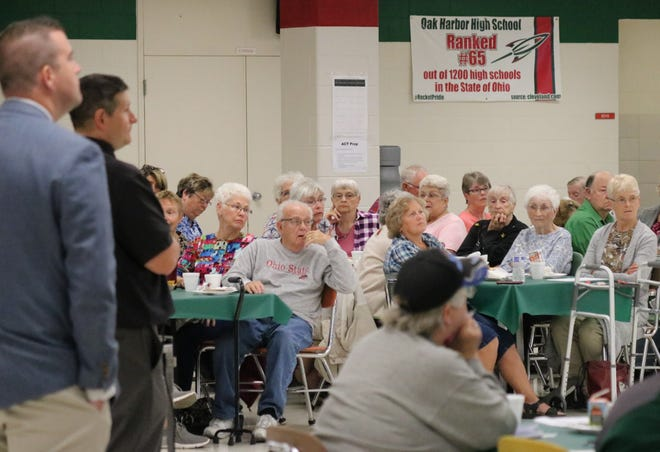 Oak Harbor High School hosted the first B-C-S Senior Citizen Breakfast during their homecoming week on Wednesday.