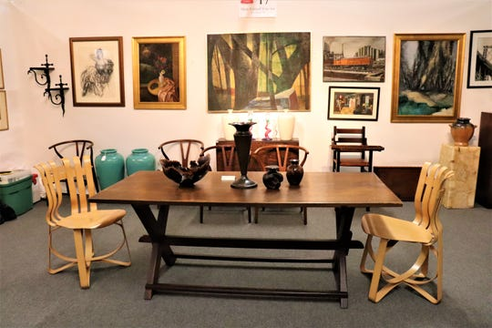 Eclectic offerings from furniture to paintings and more are featured at Fall Antiques at Rhinebeck this weekend.