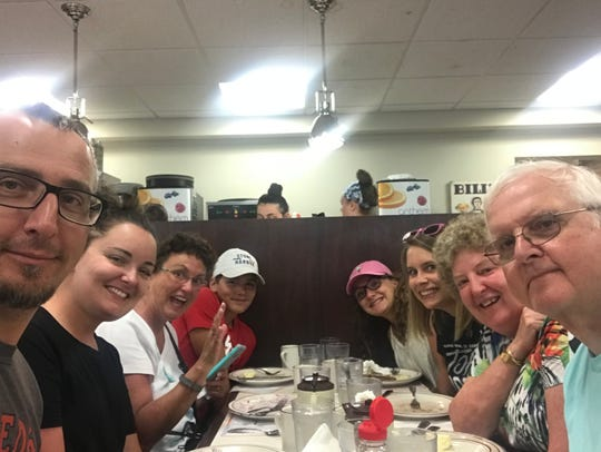 Dr. Ann Ramage, second from right, sits with family during a vacation in the summer. Ramage died Sunday, Sept. 30. Photo courtesy of Alicia Berkoski.