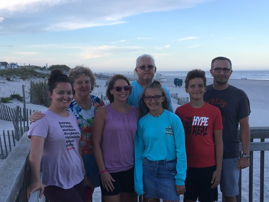 Dr. Ann Ramage, second from left, poses with family during a vacation in the summer. Ramage died Sunday, Sept. 30. Photo courtesy of Alicia Berkoski.
