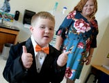 Braydon Flynn, 8, who has Down Syndrome, was chosen to be one of the princes for the York Suburban High School Homecoming celebrations.