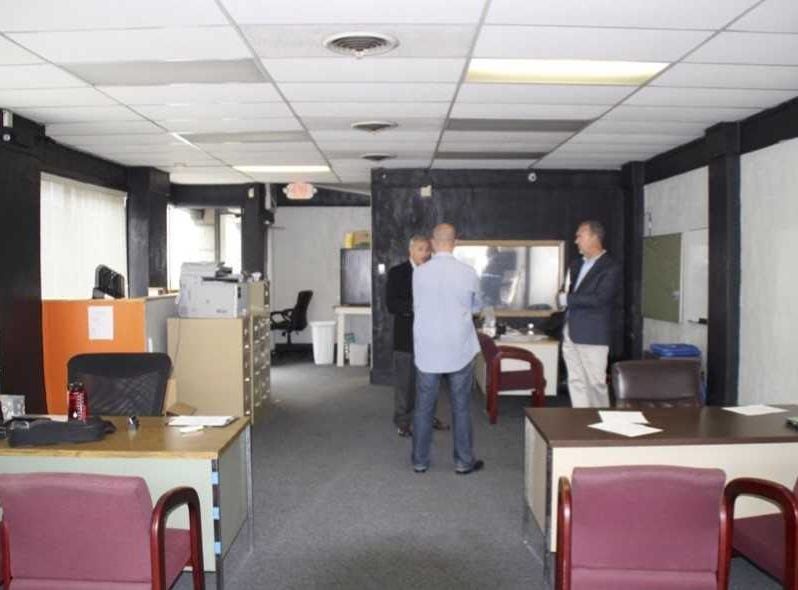 Before renovations, visitors entering this space offered by past retailers observed this scene.