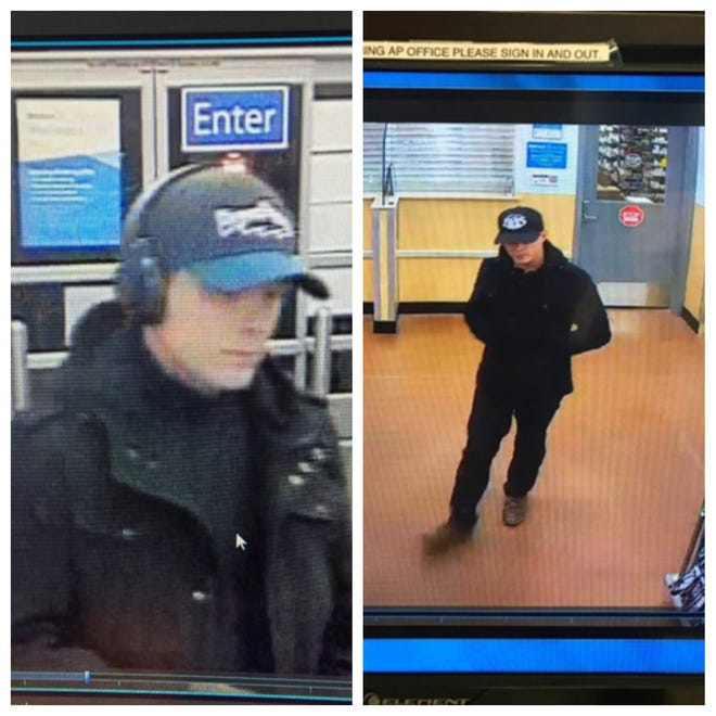 The Reno Police Department releases surveillance photos of a man they suspect burglarized several Walmart stores in the Reno area.