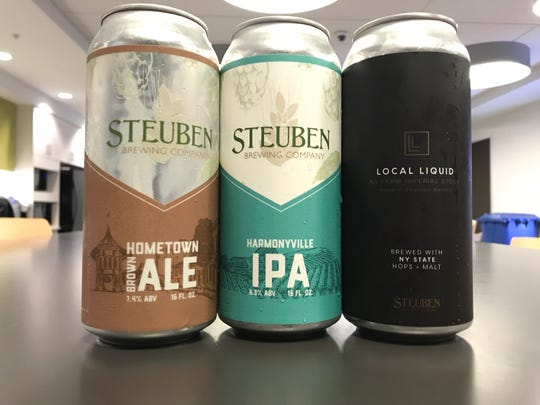 Three canned offerings from Steuben Brewing on Keuka Lake.