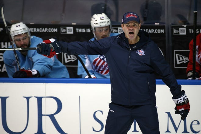 """Amerks Hall of Fame player Chris Taylor returns for his second season behind the bench. He led Amerks to a playoff berth last season and said fans have a reason """"to be excited.''"""