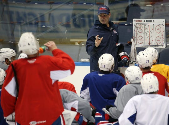 "Amerks coach Chris Taylor: ""Our staff, we understand what these players are going through and our doors are always open for these guys, the good and the bad. We're not going to B.S. them. We tell them the truth and what we need out of them, we're hard on them if we need them to be better, but they want direction and we give them direction.''"