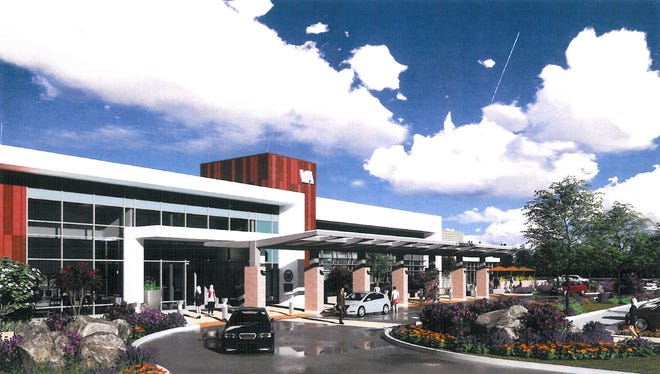 This is an artist's rendering of the Veteran's Administration clinic proposed on Knighton Road in south Redding.