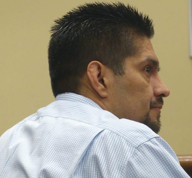 Juan Manuel Venegas listens to his defense attorney Wednesday in Shasta County Superior Court.