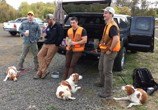 Left to right, Ruby, Cody Carrier of Albany, Cameron Egan of Southern California, Thomas Veley of Portland, Sage, Austin Burnham of Salem and Tess.