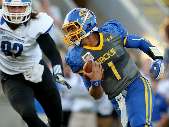 Taryn Christion made his first career start for SDSU against Indiana State in 2015, and led the Jacks to a 24-7 win