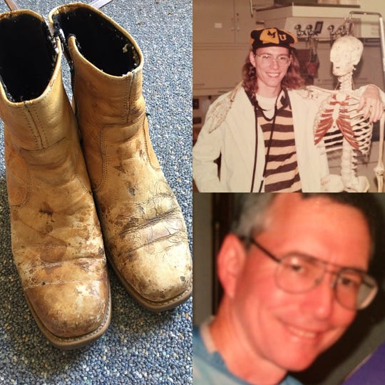Dr. Mark Stuppy wore a weathered-pair of Dingo boots every day. One pair he had re-soled three times.