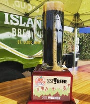 Beaver Island Brewing Company won the People's Choice award for Best Beer at the 2018 St. Cloud Craft Beer & CiderFest. Their winning beer was their Sweet Miss Chocolate Milk Stout soaked with vanilla and coffee, pictured here.