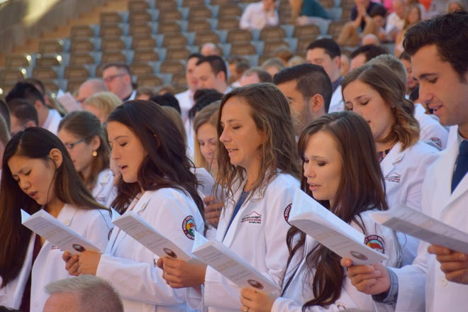 Incoming students were greeted with a white coat ceremony hosted by Rocky Vista University at the Tuacahn Center for the Arts in Ivins on Sept. 22.