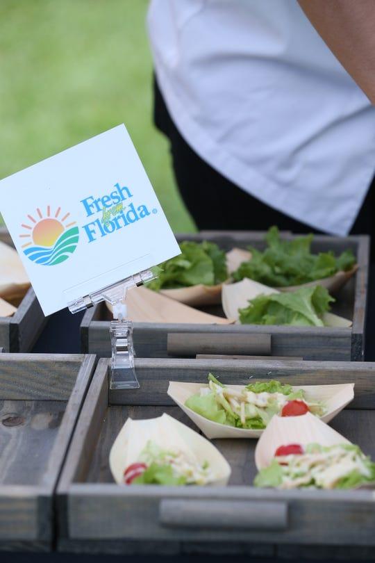 Fresh from Florida serves salads on campus at Florida State University September 28, 2019.