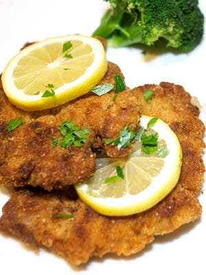 The secret to good pork schnitzel is in the breading.
