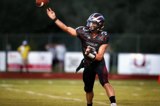 Chiles quarterback Garrett Greene throws a pass during a game against Florida High earlier this year.