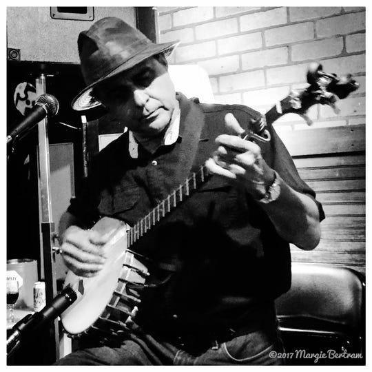 Banjo man Frank Lindamood plays at Blue Tavern Friday.