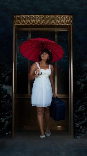 Eurydice (Lilliana Simms) steps into the underworld.