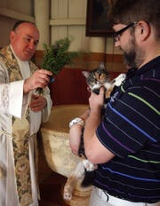Bring your pet to be blessed on Saturday.