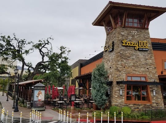 An expanded patio awaits patrons and their pooches at Lazy Dog Restaurant & Bar in Thousand Oaks. The restaurant opened at The Oaks shopping center in 2009; its outdoor seating area was remodeled this spring.