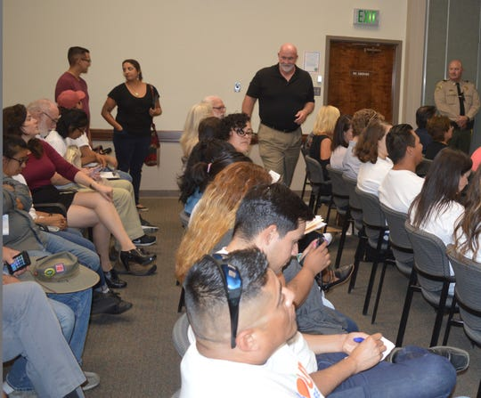 Dennis Townsend, Supervisor-elect, attends the Truth Act forum on Wednesday in Visalia.
