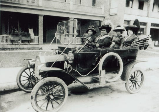 Madam C. J. Walker driving her Model T in Indianapolis in 1912