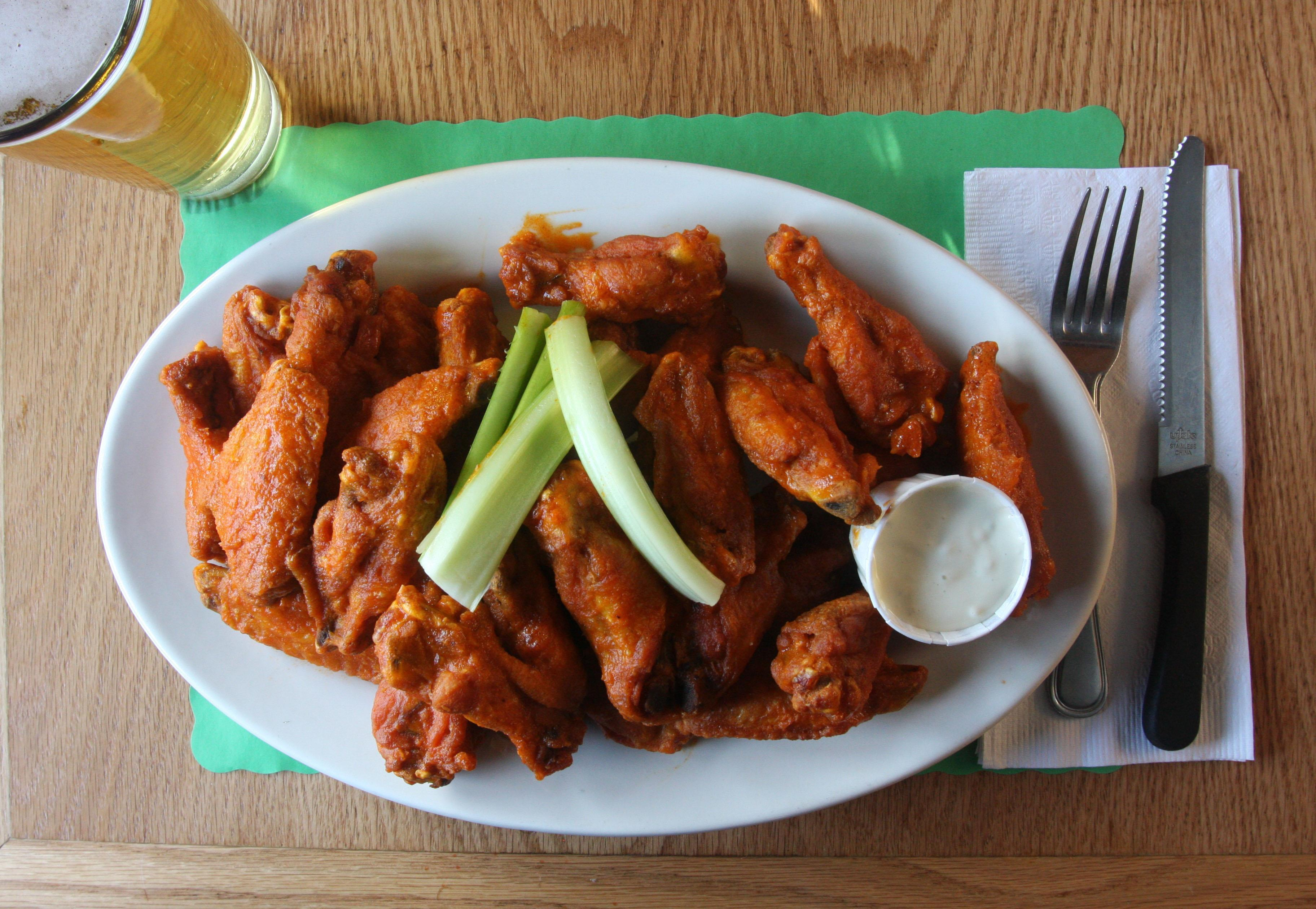 Chicken wings at The Candlelight Inn in Scarsdale.