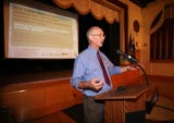 The U.S. Army Corps of Engineers held a coastal flood meeting in White Plains.