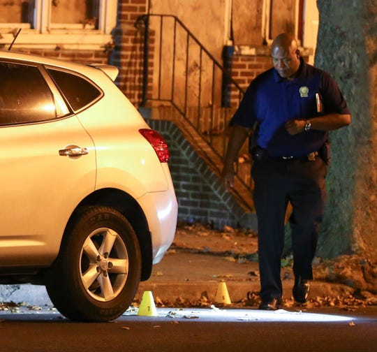 Wilmington police investigate a shooting on the 200 block of N. Clayton Street, reported about 7:25 pm Tuesday.
