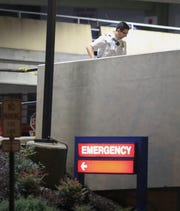 The emergency room entrance to St. Francis Hospital