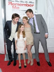 "Actors Robert Pattinson, Ruby Jerins, Emilie de Ravin and writer Will Fetters from Delaware attend the premiere of ""Remember Me"" at the Paris Theatre on March 1, 2010 in New York City."