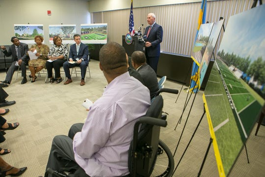 Mayor Mike Purzycki and the City of Wilmington along with Salesianum School announce Wednesday a tentative lease agreement that will allow Salesianum to raise $15 million to $20 million in private funds to completely renovate the 96-year-old facility and take over its operation.