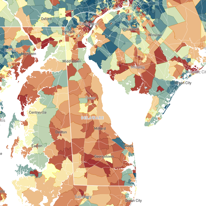 Poverty and social mobility: Interactive map shows how Delaware neighborhoods fare