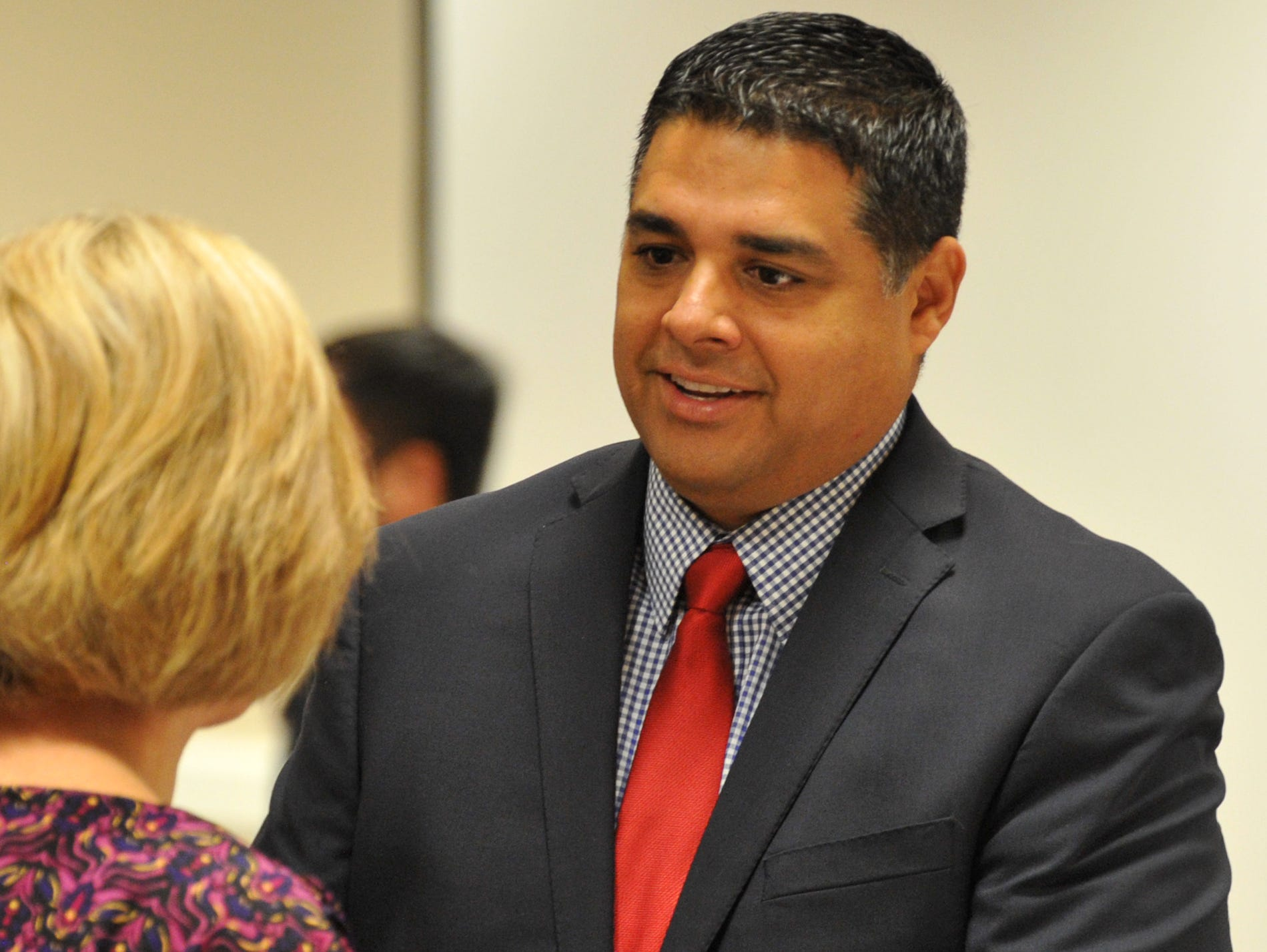 Wichita Falls Mayor, Stephen Santellana was one of several city dignitaries to attend the idea WF award ceremony Wednesday morning.