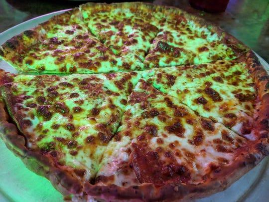 A small pepperoni pizza Roma Pizza in Henrietta.
