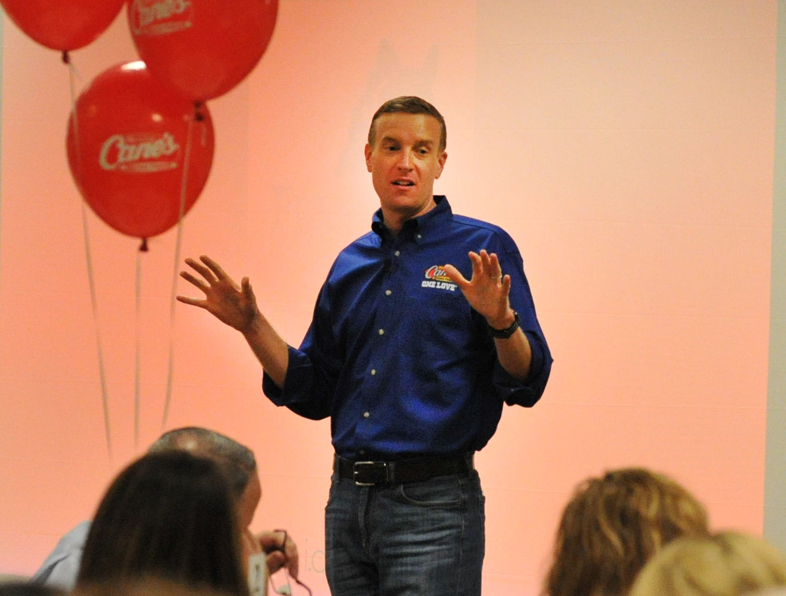 idea WF keynote speaker Vice President of Company Restaurants for Raising Cane's Chicken Fingers, Tommy Van Wolfe talked about his career with the company and about how Raising Cane's Chicken Fingers came to be what it is today.