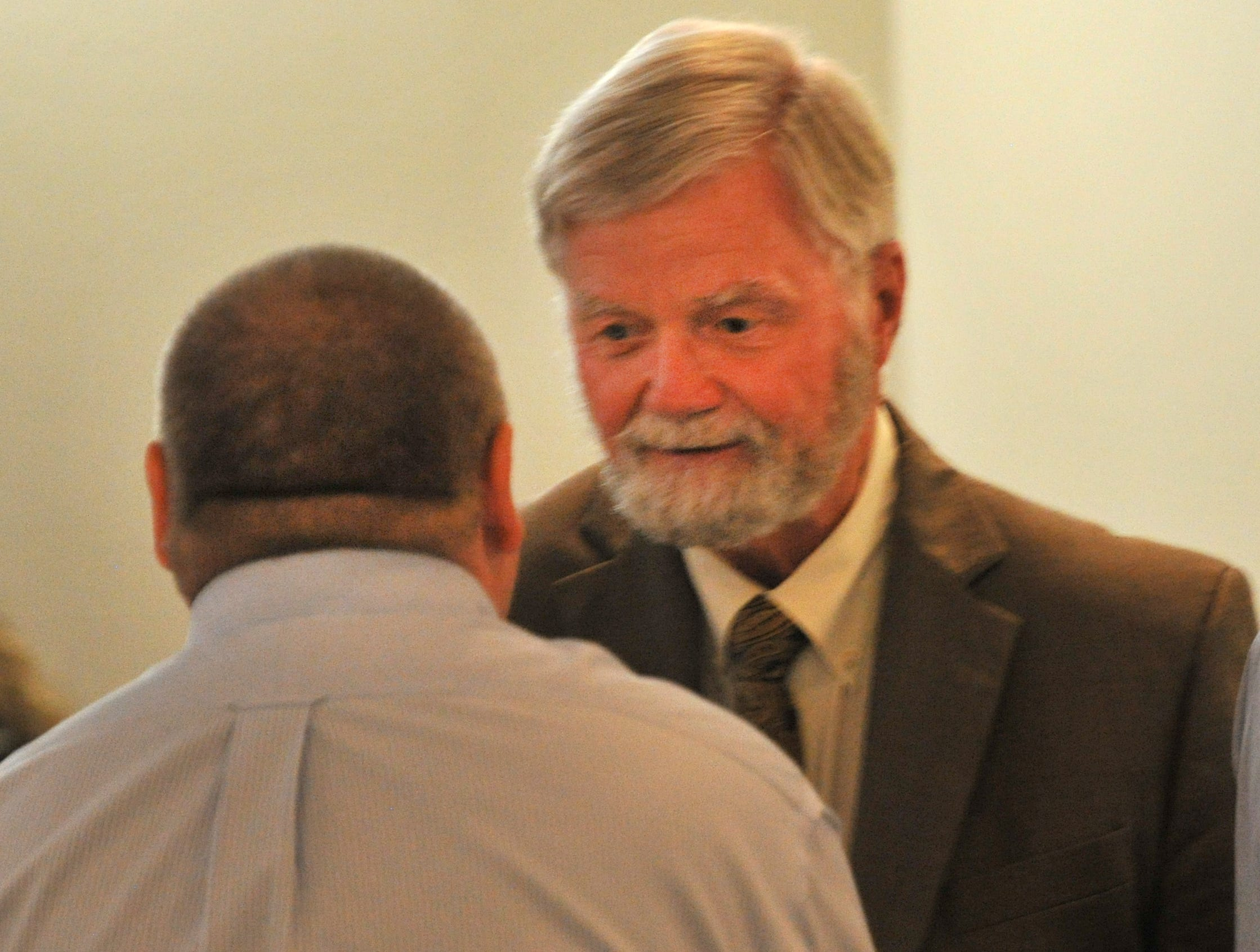 Wichita County Judge Woody Gossom was one of several county dignitaries that attended the idea WF ceremony held at MSU Wednesday.