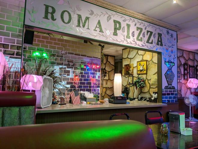 Inside Roma Pizza in Henrietta.