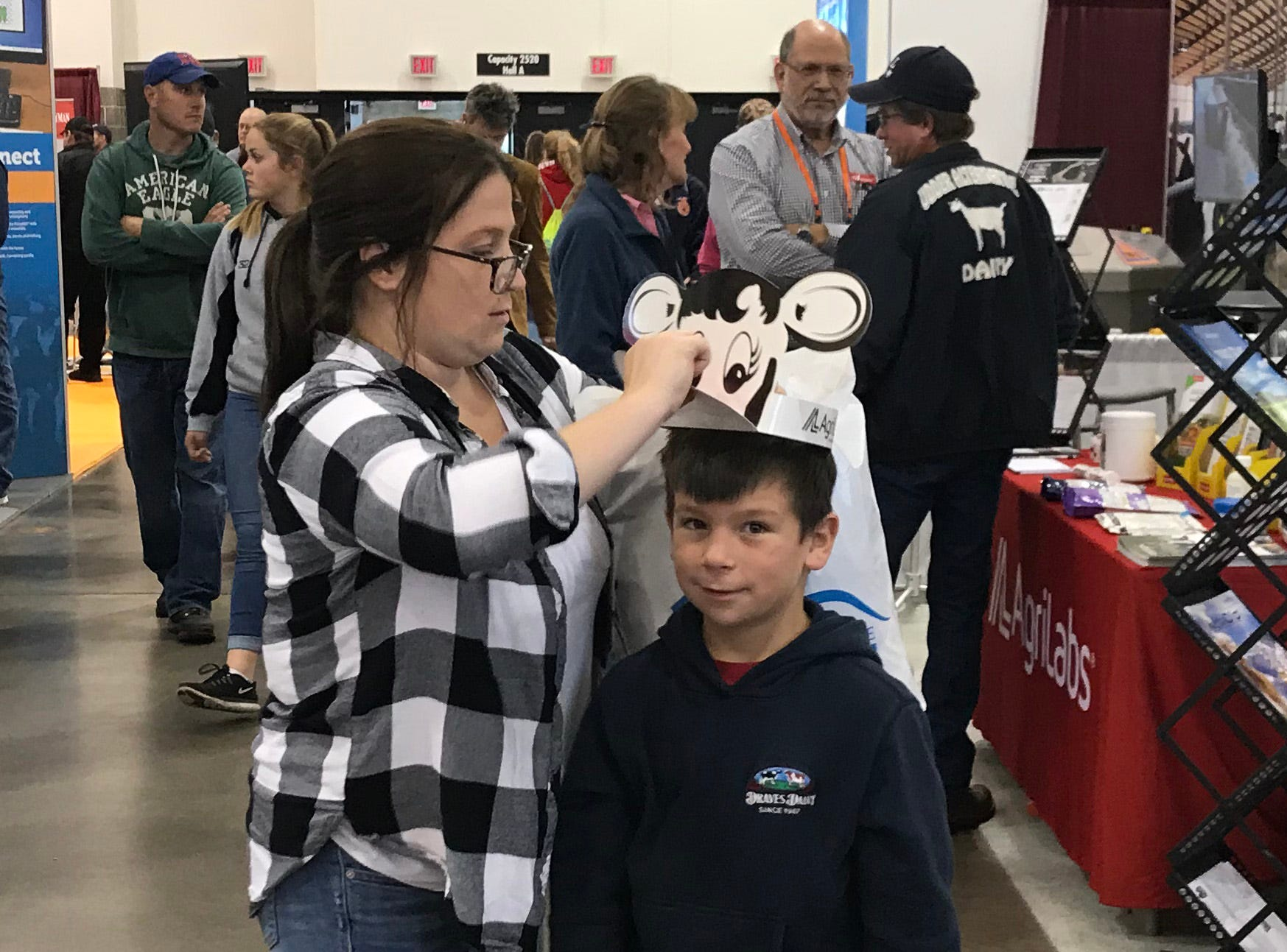 Cool cow hats were all the rage among young attendees at World Dairy Expo.