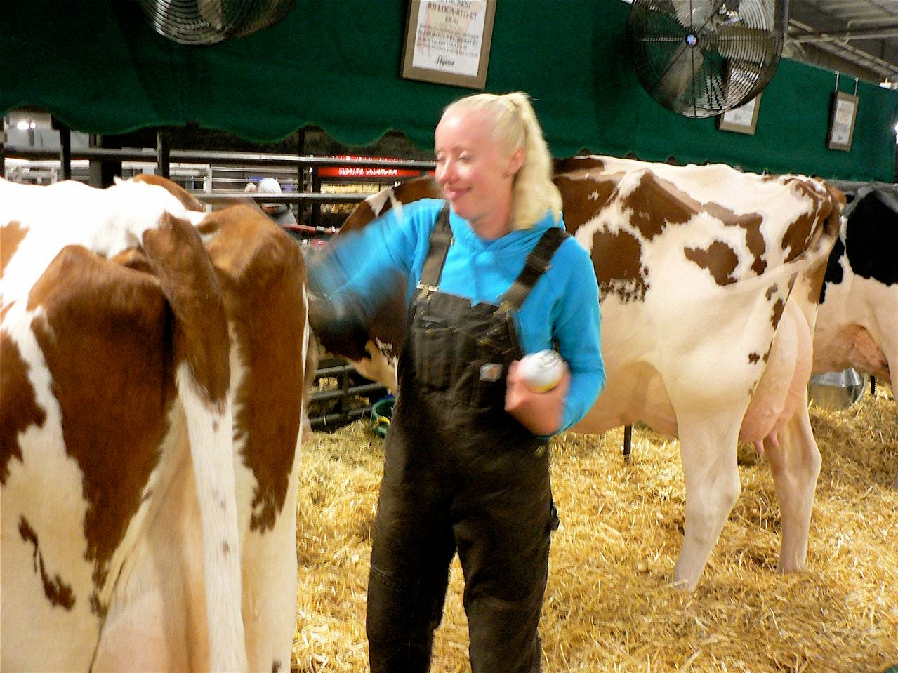 Jennifer Charlton, works for Ryancrest  Farm in Corfu, New York.  This is her eighth year at Expo.
